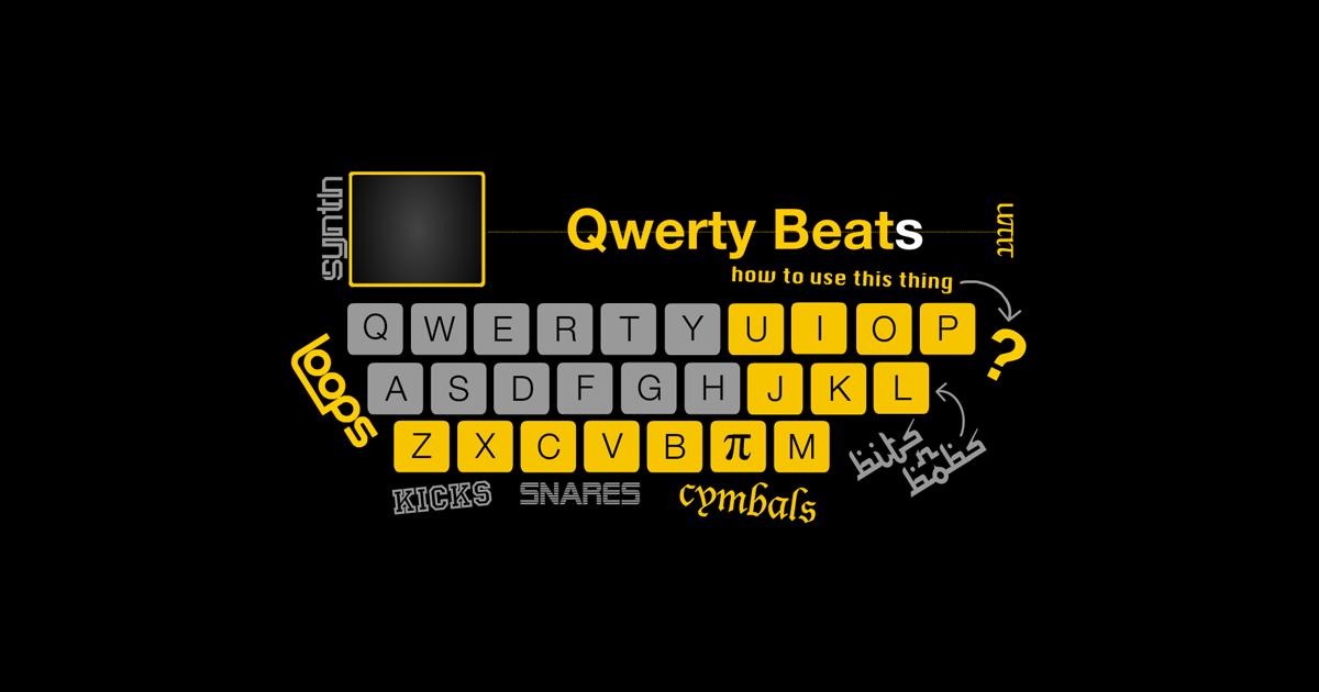 キーボードでドラム気分が味わえるサイト(qwertybeats)